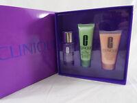 Clinique 3 Piece Gift Set Moisture Surge Thirst Relief, Remover, 7 Day Scrub Nip