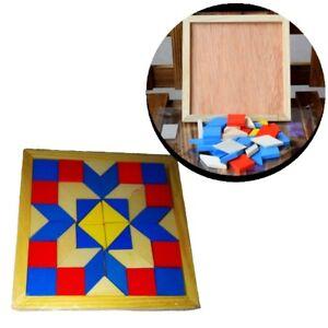 Paedagogisches-Spielzeug-Holz-Tetris-Motorik-Kind-Denkspielzeug-Lernspiel-Puzzle