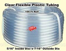 Clear Plastic Tubing 100 Roll 516 Inside Dia X 716 Outside Dia Flexible
