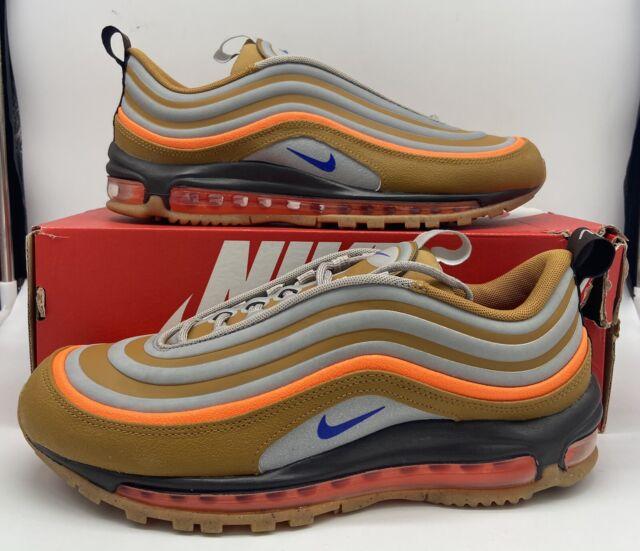 Nike Air Max 97 Utility Sepia Stone Brown Blue Orange BQ5615-200 Men's Size  NEW