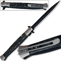 Great Godfather Style Knife Massive 13.25in Easy Opening Dark Pearl Handle