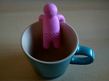 PERSON MAN SHAPED TEA INFUSER STRAINER (BRAND NEW) DARK PINK