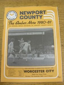 17111980 Newport County v Worcester City Welsh Cup  Good condition unless p - Birmingham, United Kingdom - 17111980 Newport County v Worcester City Welsh Cup  Good condition unless p - Birmingham, United Kingdom