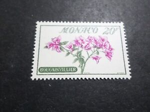 Monaco-1959-Stamp-517-Flowers-Bougainvillea-New-VF-MNH-Stamp-Flowers