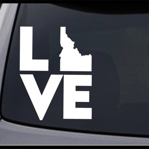 3 Pack Idaho State Map I Love ID Permanent Vinyl Decal Laptop Window Car Sticker