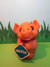 """1988 DAM THINGS EURO PIGGY BANK WITH NORFIN HANG TAG  - 6"""" Dam NorfinTroll Doll"""