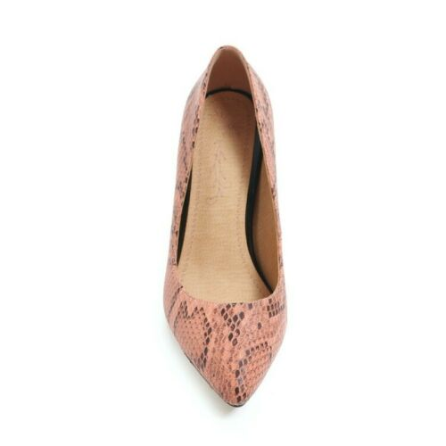 Women/'s High Heel Pointed Shoes Snakeskin Synthetic Leather Pumps Classics US Sz