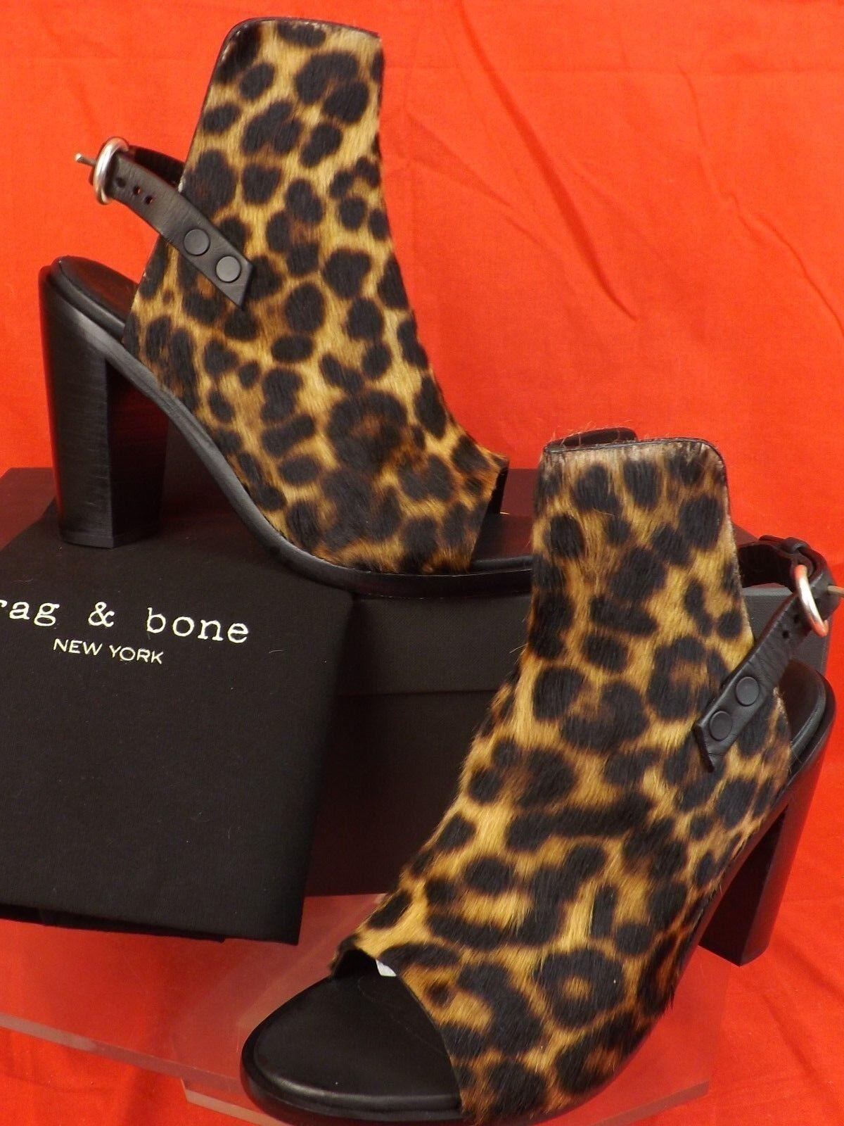 Nuevo En Caja Rag Rag Rag & Bone Wyatt Estampado de Leopardo Pelo De Pony bombas Sandalias Con Cinturón 39.5  595  Seleccione de las marcas más nuevas como