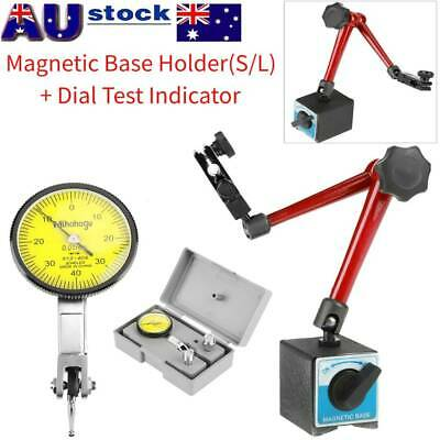 Dial Test Indicator Scale Gauge Precision+Magnetic Flexible Base Holder Stand Re