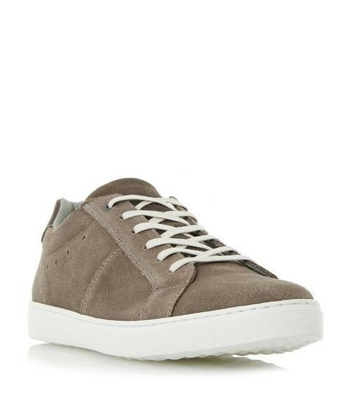 DUNE Mens Twister Taupe Suede shoes JS47 41