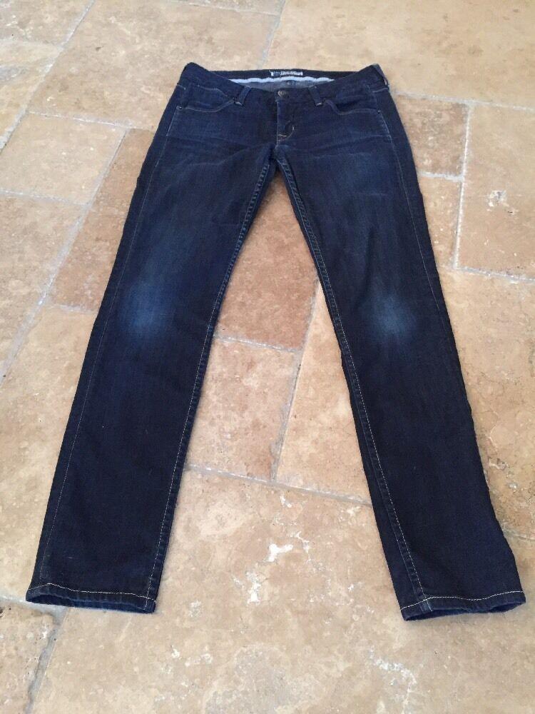 HUDSON Women's Dark Denim Low Rise Ankle Length Skinny Jeans Sz. 28