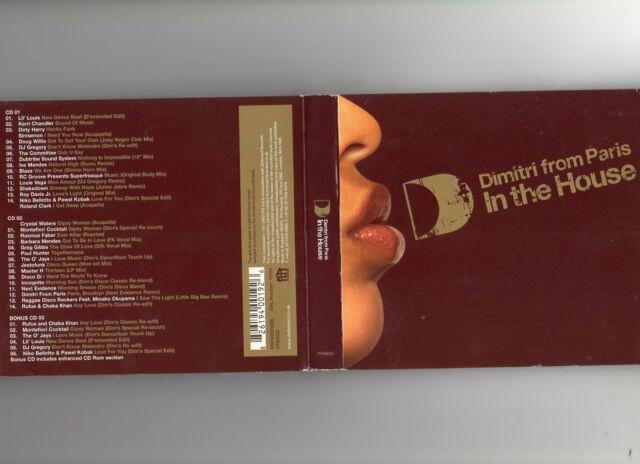 Dimitri From Paris - In The House - 2CD MIXED + BONUS CD - HOUSE DEEP HOUSE