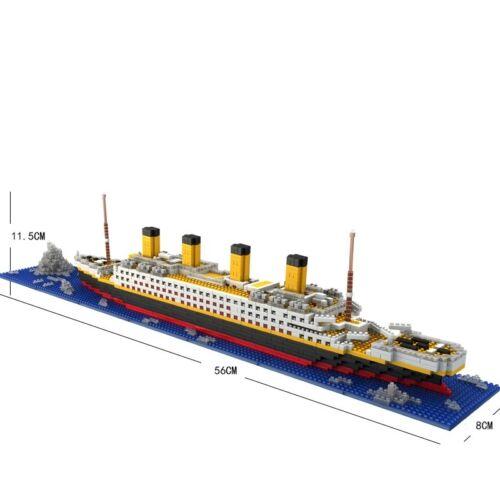 Titanic Ship 1860PCS Block Diamond Micro Mini Building Doll Lego Toys Child Gift