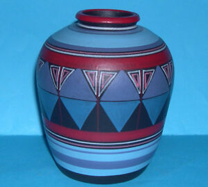 Portugal Studio Pottery  Attractive Decorative Abstract MultiColour Vase MM - Bungay, United Kingdom - Portugal Studio Pottery  Attractive Decorative Abstract MultiColour Vase MM - Bungay, United Kingdom