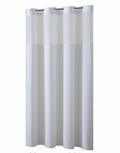 Hookless Shower Curtain With Removed Fabric Inner Liner Magnet 708