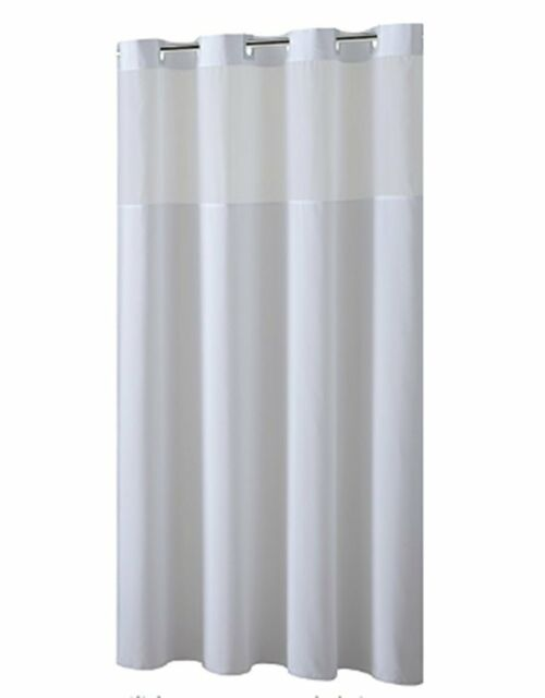 Hookless Shower Curtain With Removed Fabric Inner Liner Magnet 708 X 74 Inch