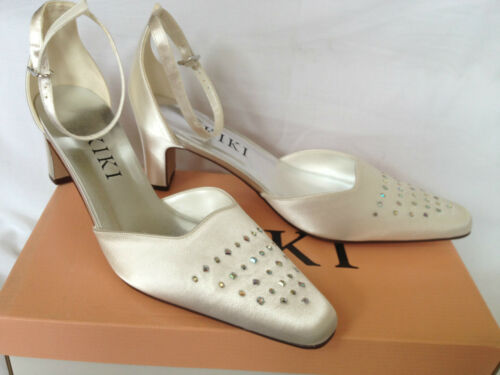 "Ivory Bridal Bridesmaid Wedding Shoes All Sizes Pure & Precious Angel 2"" Heel"