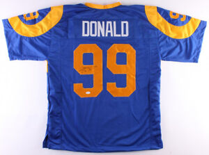 competitive price 25dc4 b55b8 Details about Aaron Donald Los Angeles Rams Signed Jersey / 4×Pro Bowl Def  End (2014–2017) JSA