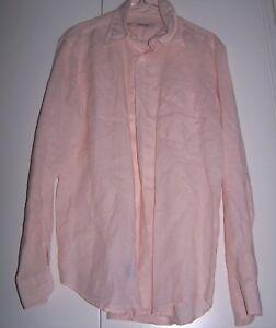 Camicia-rosa-chiaro-ZIP-USUALLY-LINO-100-Tg-M
