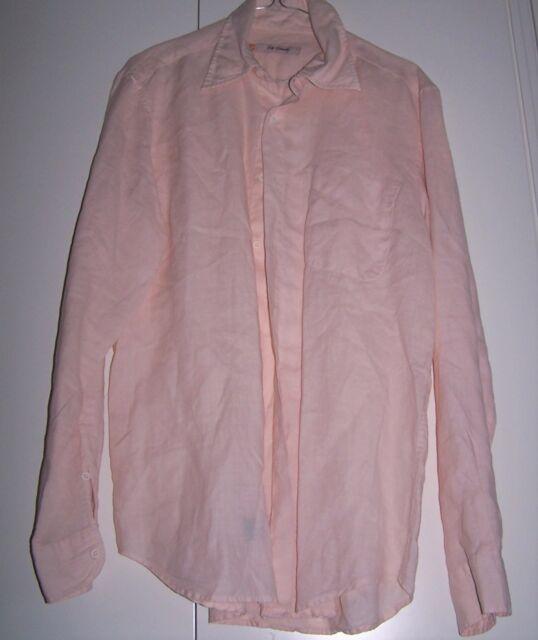 Camicia rosa chiaro ZIP USUALLY LINO 100%  Tg M
