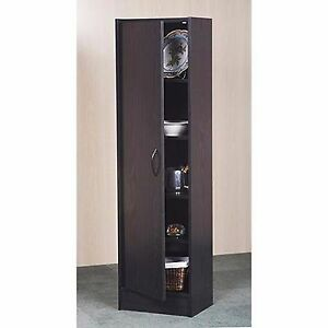 black kitchen pantry storage cabinet single door wood