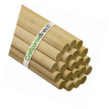 1 Inch X 48 Inch Wooden Dowel Rods - Unfinished Hardwood Dowels For Crafts and