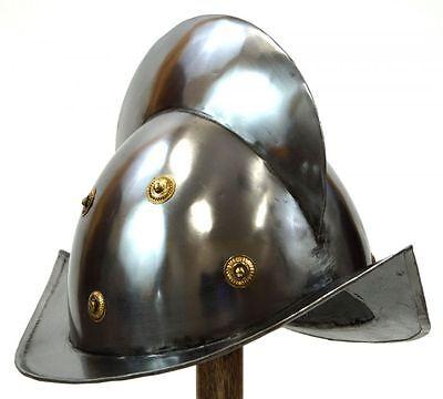 Modesto Conquistador Casco ~ Conquistodor Abito Medievale ~ Spagnolo Morion Casco Buon Sapore
