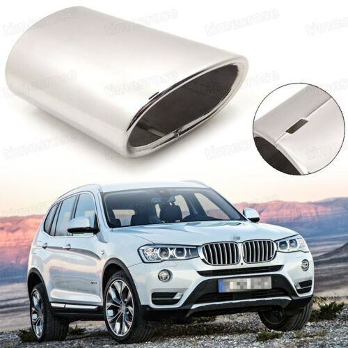 Silver Car Exhaust Muffler Tip Tail Pipe End Trim New for BMW X3 2011-2017 #1077