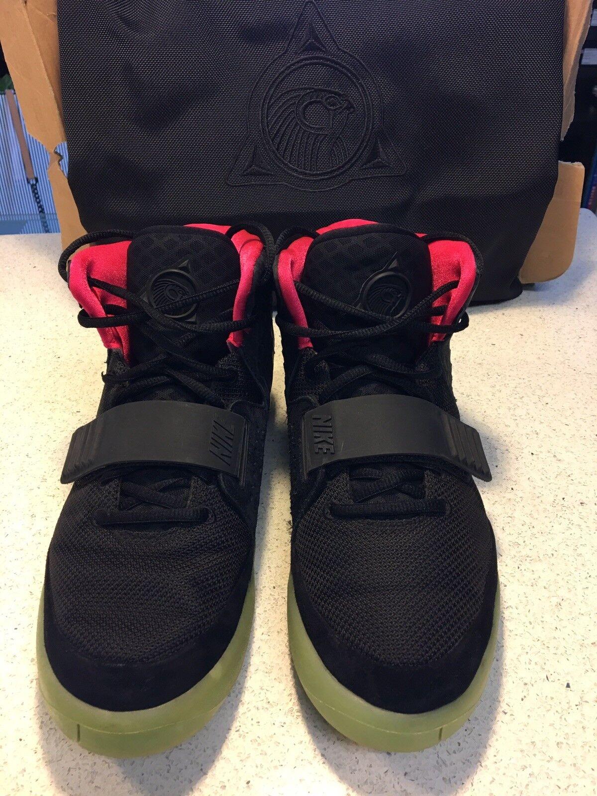Nike air yeezy 2 nrg nero solare rosso solare nero taglia 10 b98bd3
