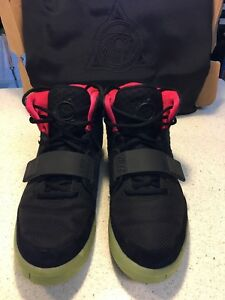 1e50bf6224f0b NIKE Air Yeezy 2 NRG Black Solar Red Size 10 Best Price!