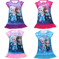 Frozen Night Dress blue  Disney Princess Elsa Anna  holiday Dress nightie girls