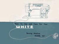 White 967 Instruction Book / Operating Manual, Cd /pdf