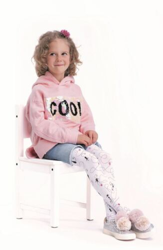 """Girls Tights By Knittex /""""CATTO/"""" 80 Denier Viscose Cat Pattern Age 2-7 New"""
