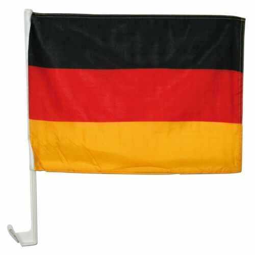 Fan-Set mit Deutschland-Fahne+Autohalterung
