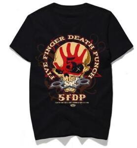 new 5FDP FIVE FINGER DEATH PUNCH Logo Mens Gildan Long Sleeves S to 3XL