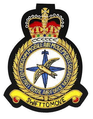 UK Mobile Air Movements Squadron UKMAMS RAF Embroidered Blazer Badge