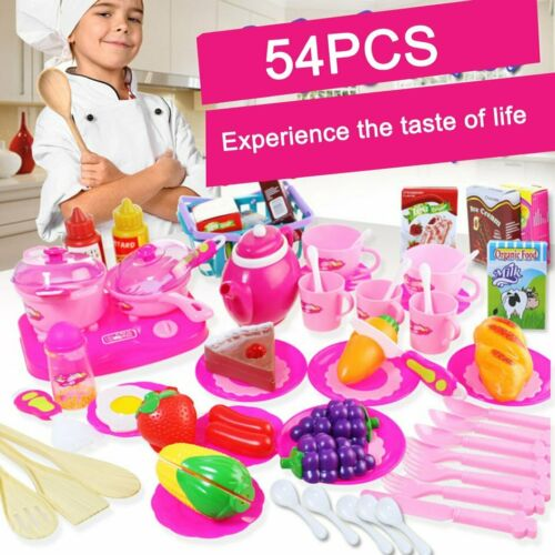 Zauberartikel & -tricks 54Pcs Simulate Kitchen Slicing Toy Set Kids Fruit Vegetable Cooking Toy  U