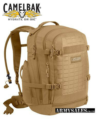 Camelbak RUBICON 47L in Coyote Tan Military Assault Pack with Reservoir
