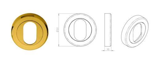Inoxydable laiton Carlisle Brass SZM002PVD Serozzetta ovale profil écusson