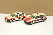 Herpa 1/87 HO - Lot de 2 VW Passat et Opel Vectra Ambulance Pompiers Feuerwehr