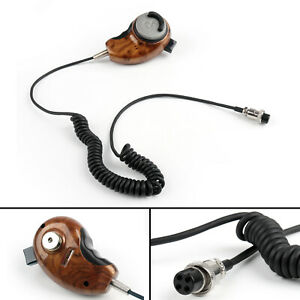 1Pcs-Wood-Grain-HG-M84W-4-Pin-Noise-Cancelling-CB-Microfono-Per-Cobra-Uniden