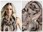Fashion Ladies Women Long Print Cotton Scarf Wrap Shawl Girls Large Silk Scarves