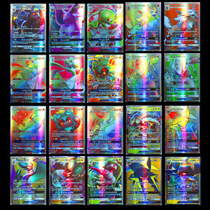 100-Stueck-Pokemon-GX-Karte-Alle-MEGA-Holo-Flash-Trading-Cards-Holiday-gifts-DE