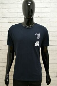 Maglia-Uomo-PIAZZA-ITALIA-Taglia-XL-Maglietta-Shirt-Man-Manica-Corta-Blu-Regular