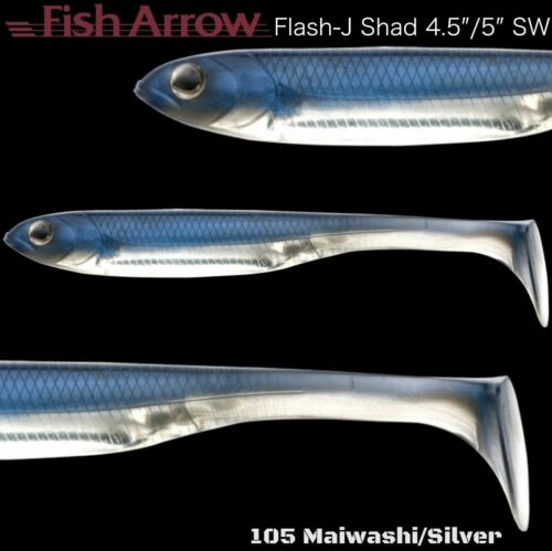 "FISH ARROW SOFT BAIT LURE  FLASH-J SHAD 4.5"" SW"