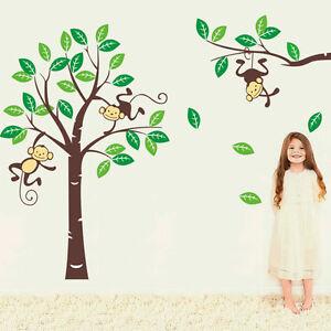 Wandtattoo Zooyoo Affe Wandsticker Dschungel Kinderzimmer Baby Affen
