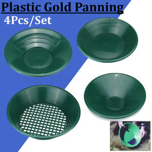 4pcs-Gold-Panning-Mineral-Sifting-Prospect-Pan-Classifier-Sieve-Detecting-Kit