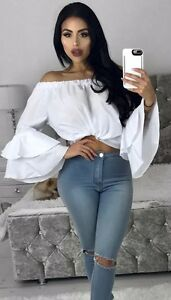 Off-Shoulder-Long-Sleeve-Fashion-Summer-Women-Casual-T-Shirt-Tops-Loose-Blouse