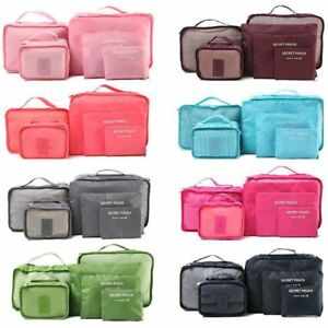 Image is loading 6pcs-Waterproof-Travel-Clothes-Storage-Bags-Luggage -Organizer- c7520638d30c2