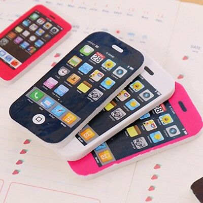 School Stationary Novelty Iphone Eraser Rubber in Two Sizes in 3 Colors